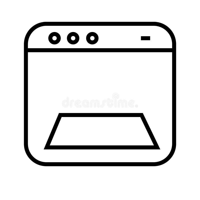 Ikonenvektorzeichen und -symbol der Webseite verschiedenes lokalisiert auf weißem Hintergrund, verschiedenes Logokonzept der Webs lizenzfreie abbildung