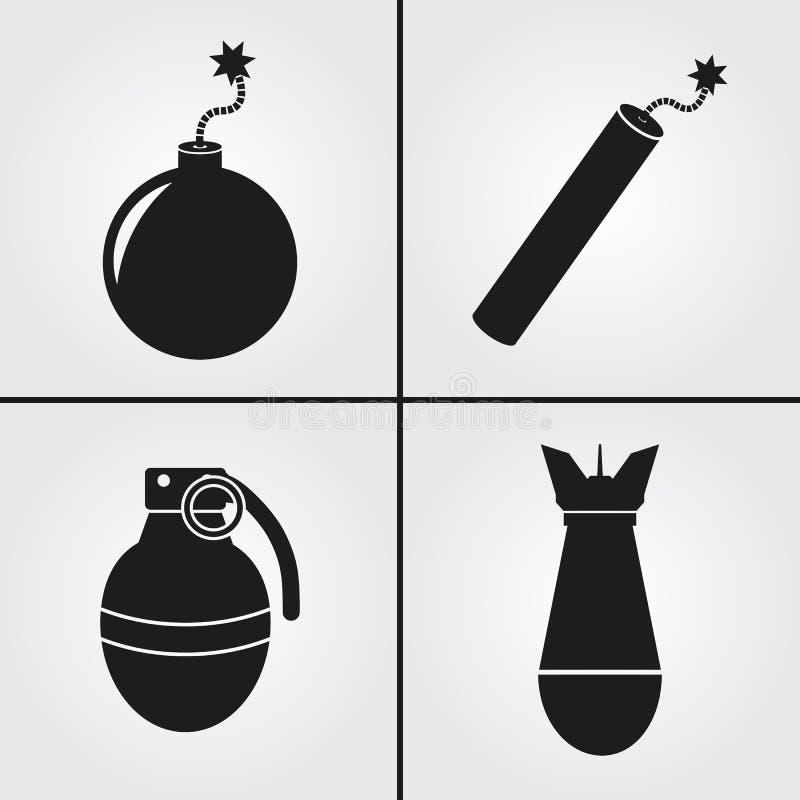 Ikoner för dynamiska sprängstubin royaltyfria foton