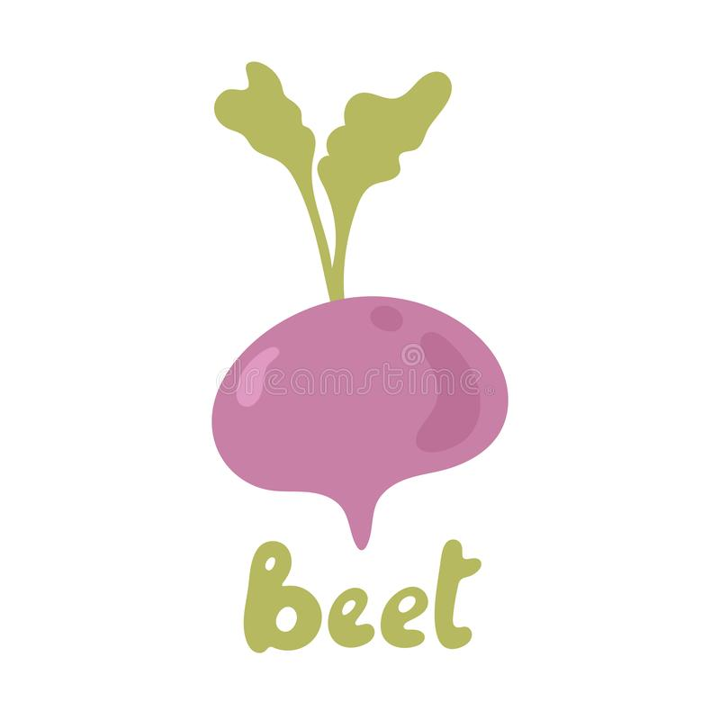 Ikonmalldesign för betgrönsakslogotyp Logotyp för lila betor Begreppet färska vegetarianer Hälsovegetariskt royaltyfri illustrationer