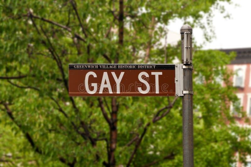 Ikonowa Homoseksualna ulica w greenwichu village, Nowy Jork, usa zdjęcia stock