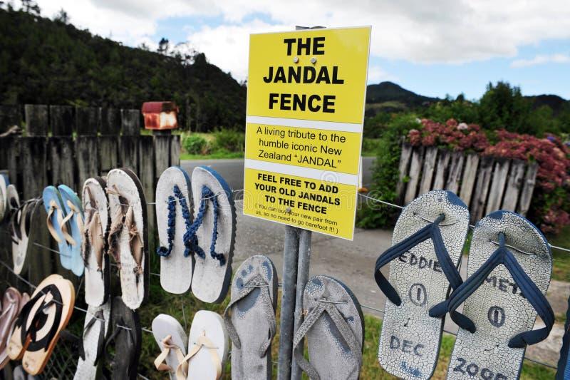 Ikonowy Jandal ogrodzenie - Nowa Zelandia zdjęcie stock