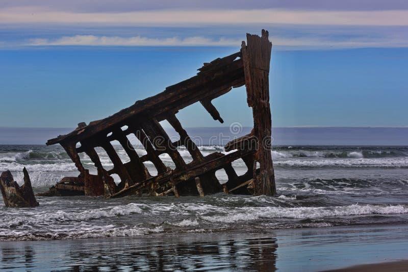 Ikonowy Oregon shipwreck Peter Iredale obrazy royalty free
