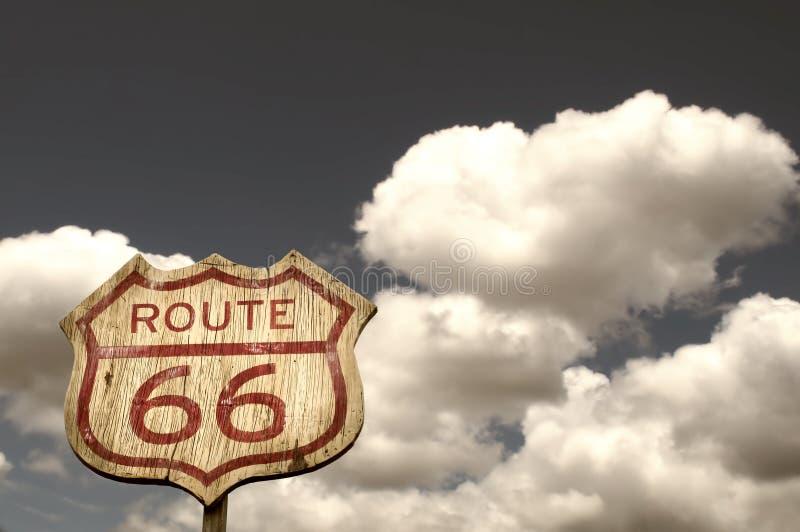 Ikonowy trasy 66 znak fotografia royalty free