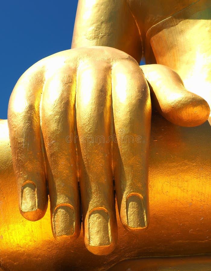Ikonowy wizerunek Buddha& x27; s prawa ręka zdjęcia royalty free