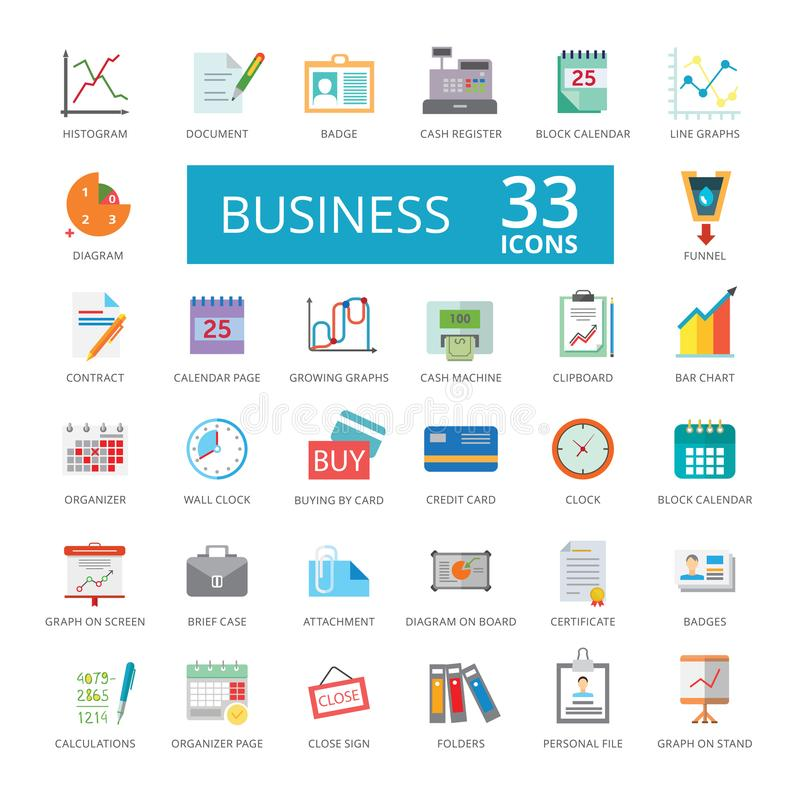 Ikony łączyć biznes obraz stock