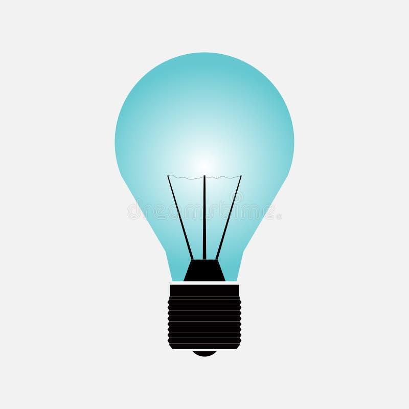 Ikony światło, ikona, żarówka royalty ilustracja
