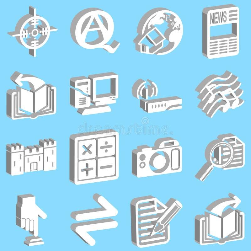 ikony żeby internet ilustracji