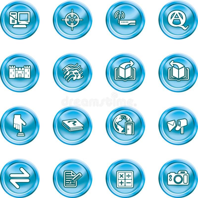 ikony żeby internet zestaw ilustracji