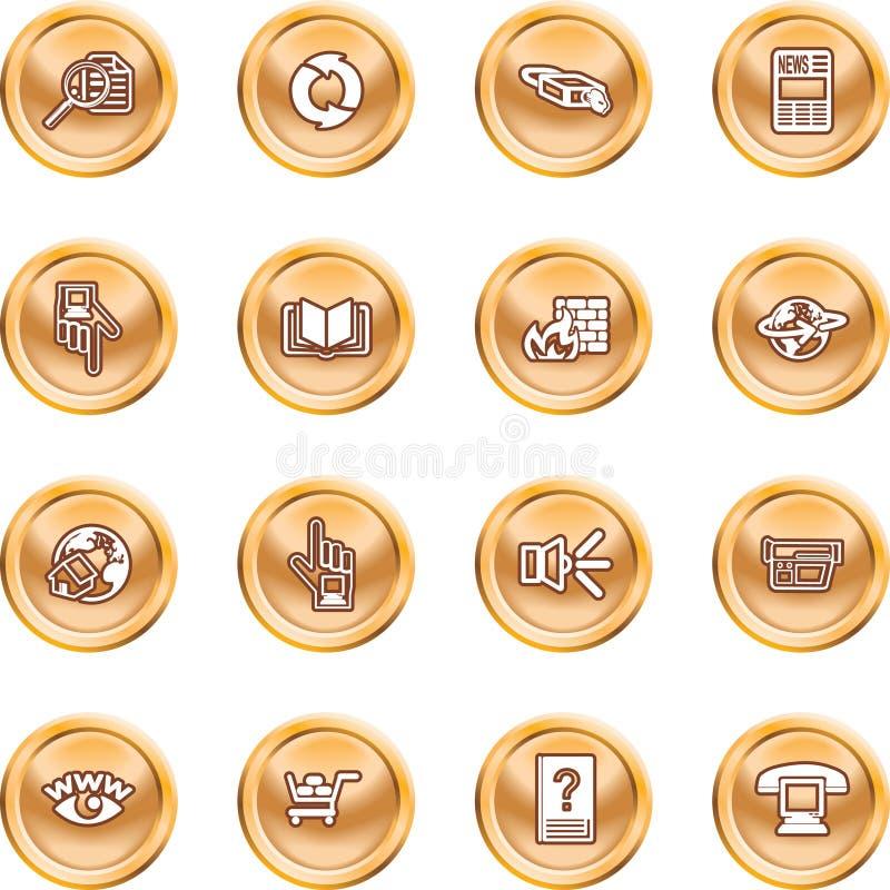 ikony żeby internet zestaw royalty ilustracja