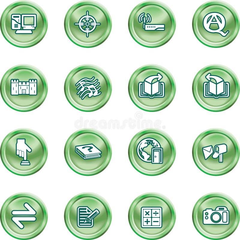 ikony żeby internet zestaw ilustracja wektor