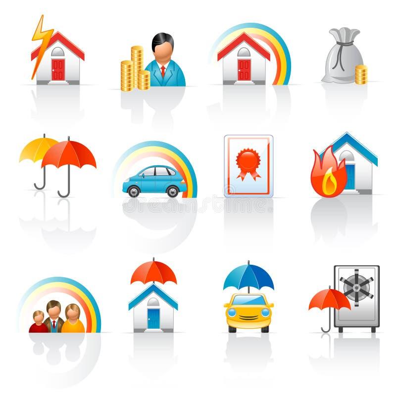 ikony asekuracyjne ilustracji