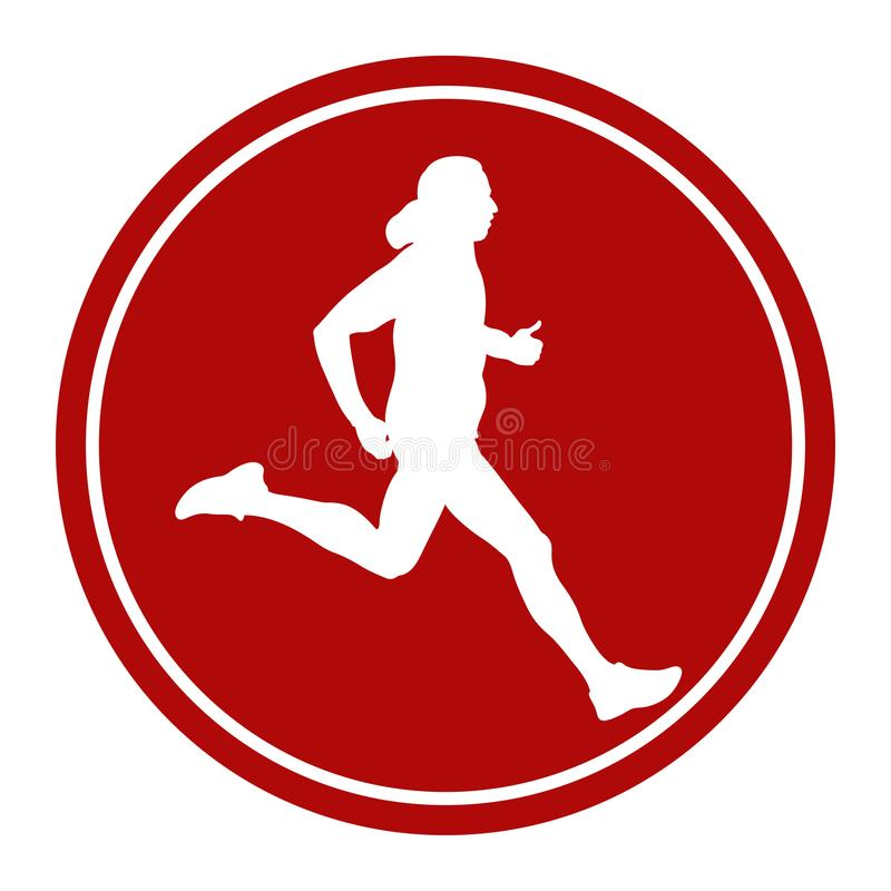 Ikony atlety męski biegacz royalty ilustracja