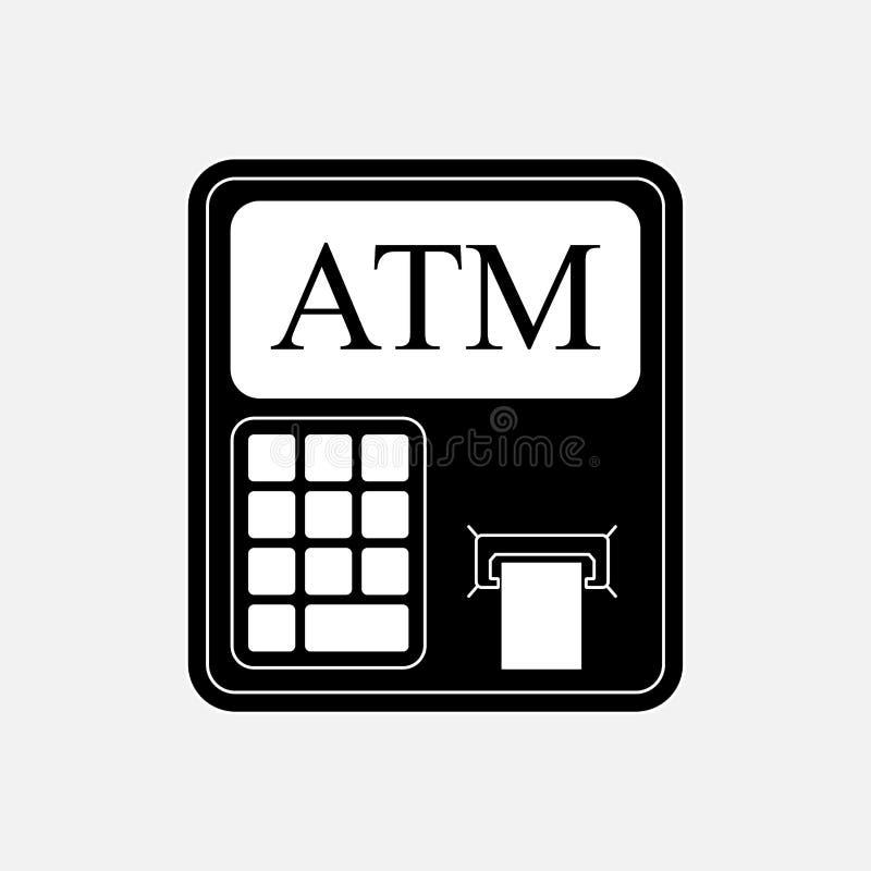 Ikony ATM wycofania od kartochki, pieniężna pojemność ilustracja wektor