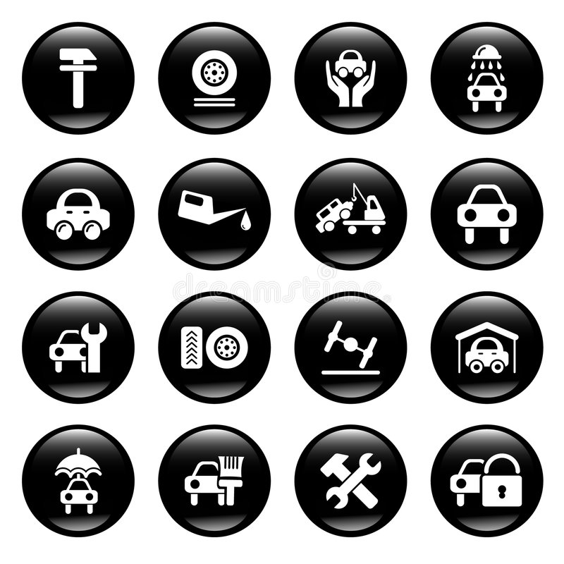 ikony auto usługa ilustracja wektor