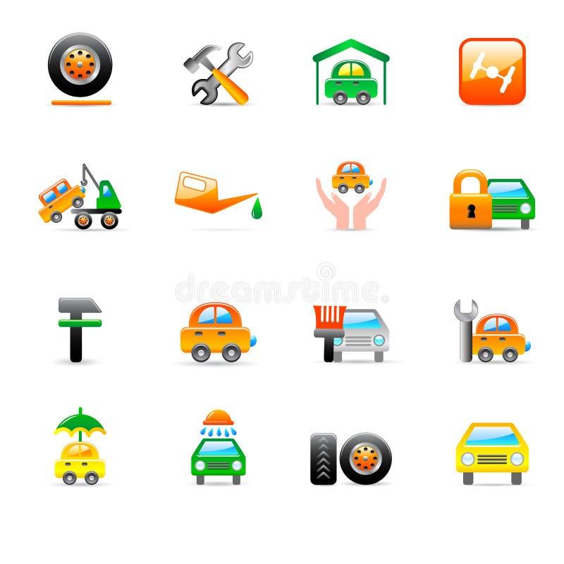 Download Ikony Auto Usługa Obrazy Royalty Free - Obraz: 8690239