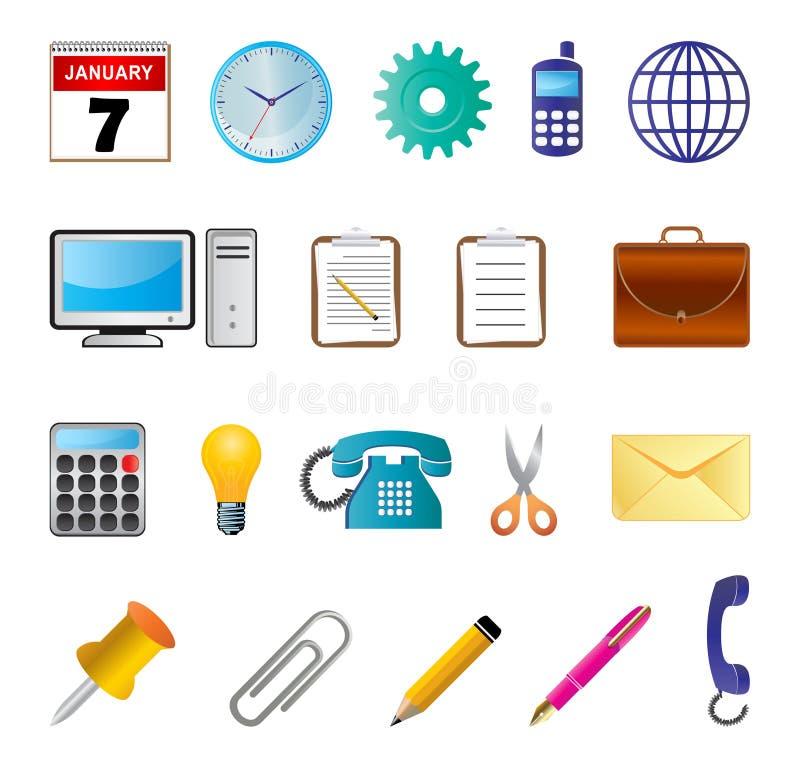 ikony biuro ilustracja wektor