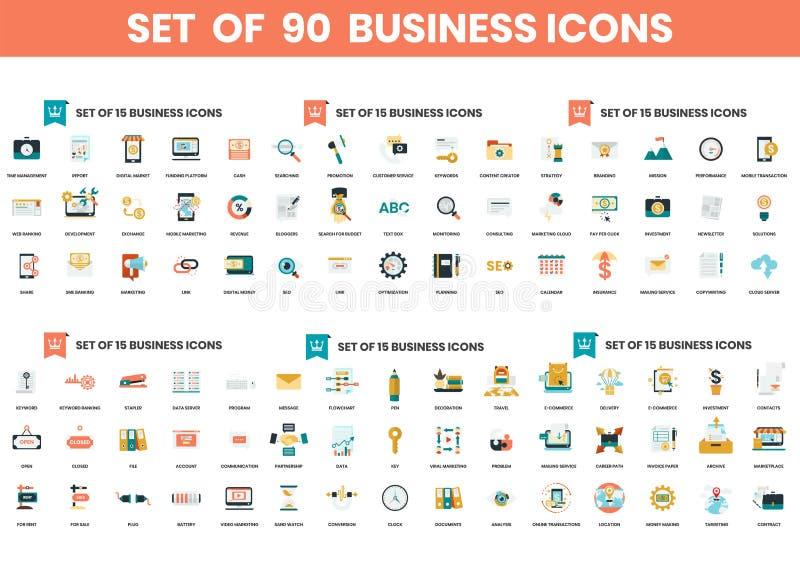 Ikony biznesowe ustawione dla firm royalty ilustracja