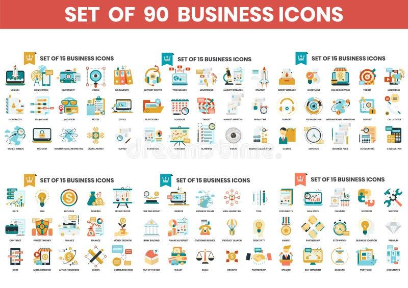 Ikony biznesowe ustawione dla firm ilustracji