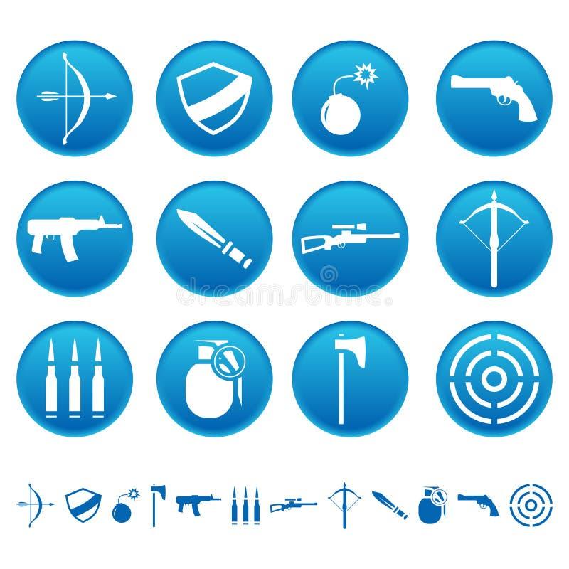 Download Ikony broń ilustracja wektor. Obraz złożonej z cioska - 23700219