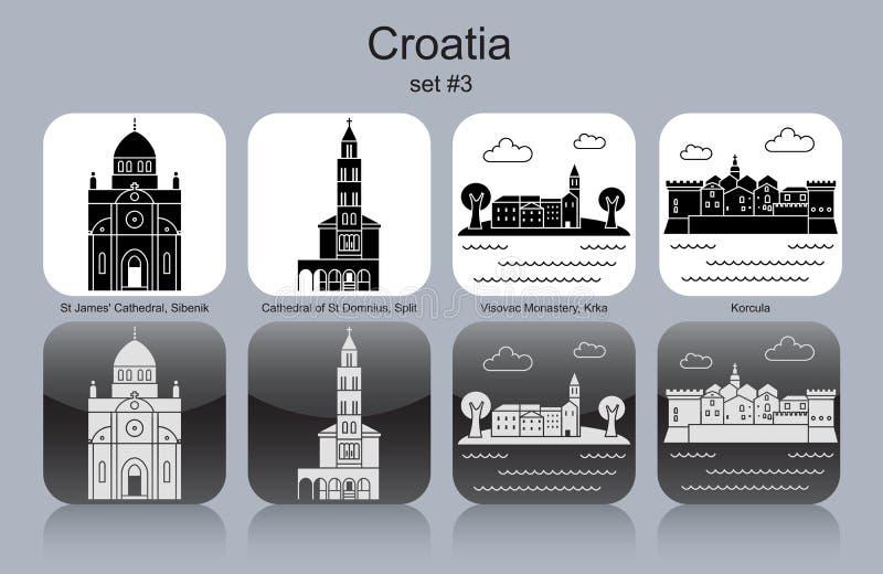 Ikony Chorwacja royalty ilustracja