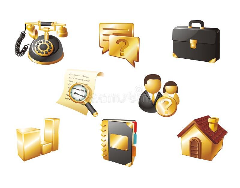 ikony czarny złocista sieć zdjęcie royalty free