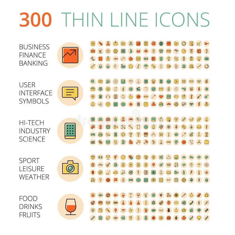 Ikony dla biznesu, technologii, przemysłowego, jedzenie i napoje royalty ilustracja