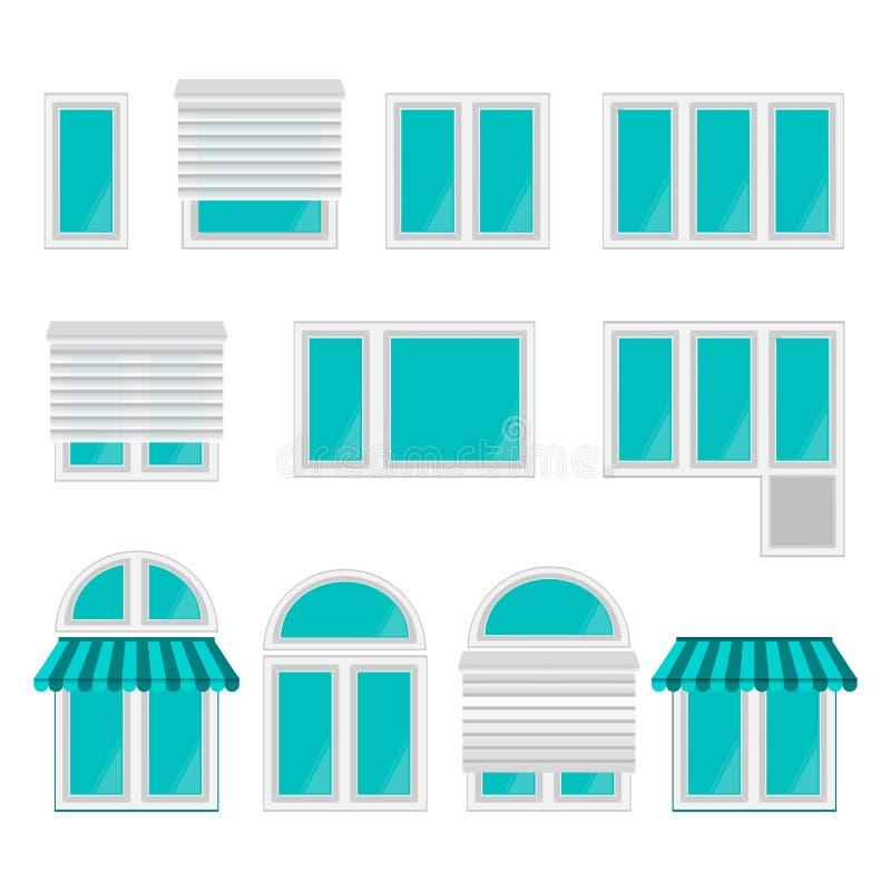Ikony dla okno ilustracji