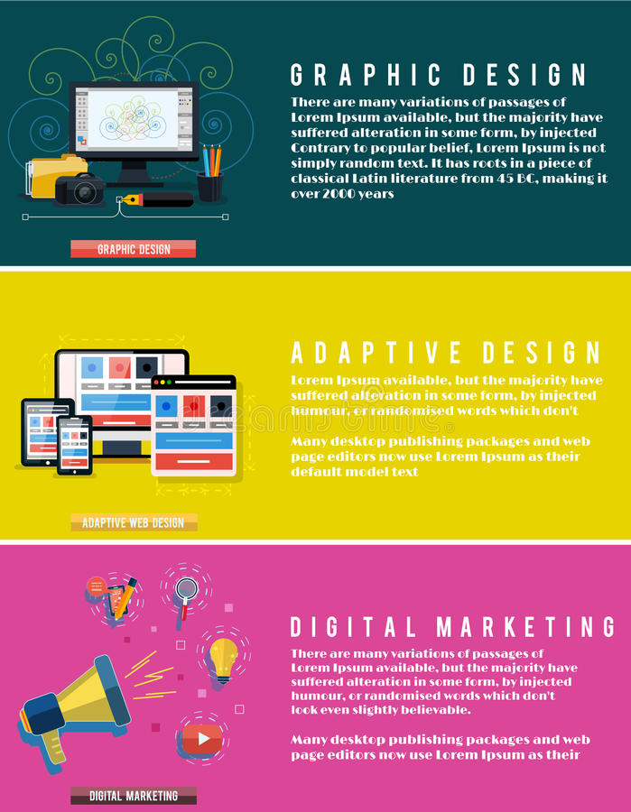 Ikony dla sieć projekta, seo, cyfrowy marketing royalty ilustracja