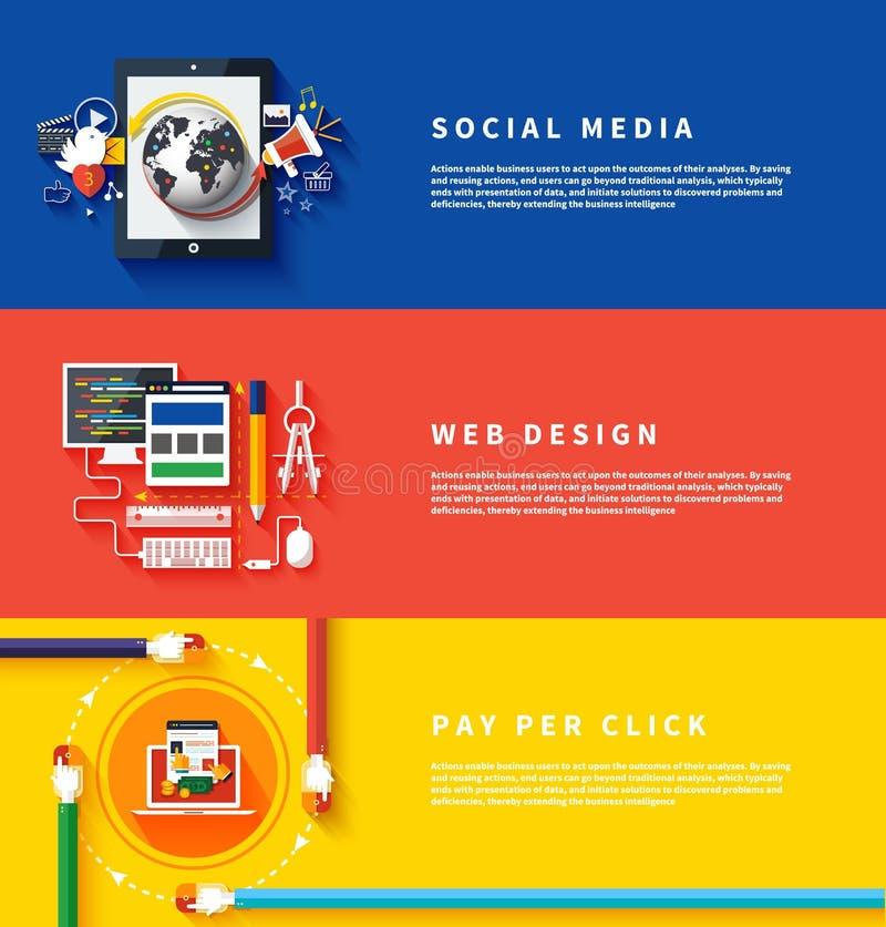 Ikony dla sieć projekta, seo, ogólnospołeczni środki ilustracji