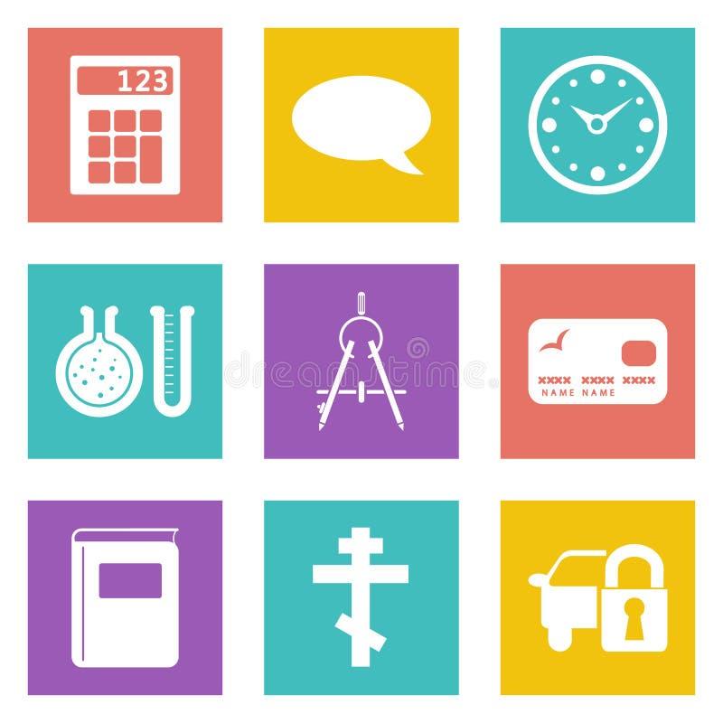 Ikony dla sieć projekta ustawiają 15 royalty ilustracja