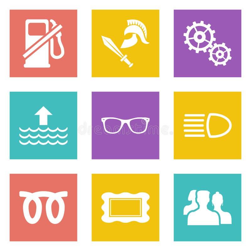 Ikony dla sieć projekta ustawiają 19 ilustracja wektor