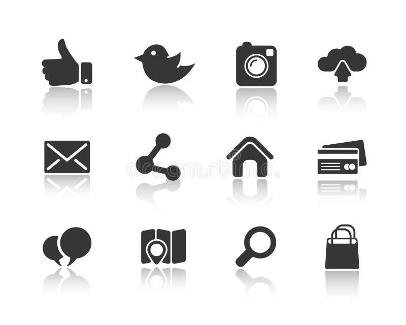 Ikony dla sieci i wiszącej ozdoby royalty ilustracja