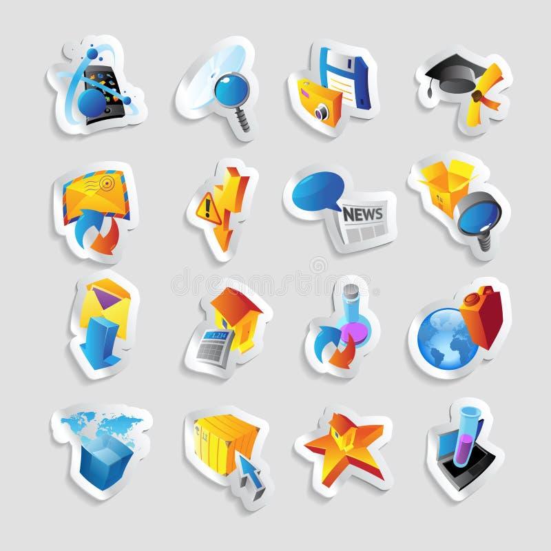 Ikony dla technologii i interfejs ilustracji