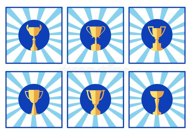 Ikony filiżanka, barwiony logo, wektor royalty ilustracja