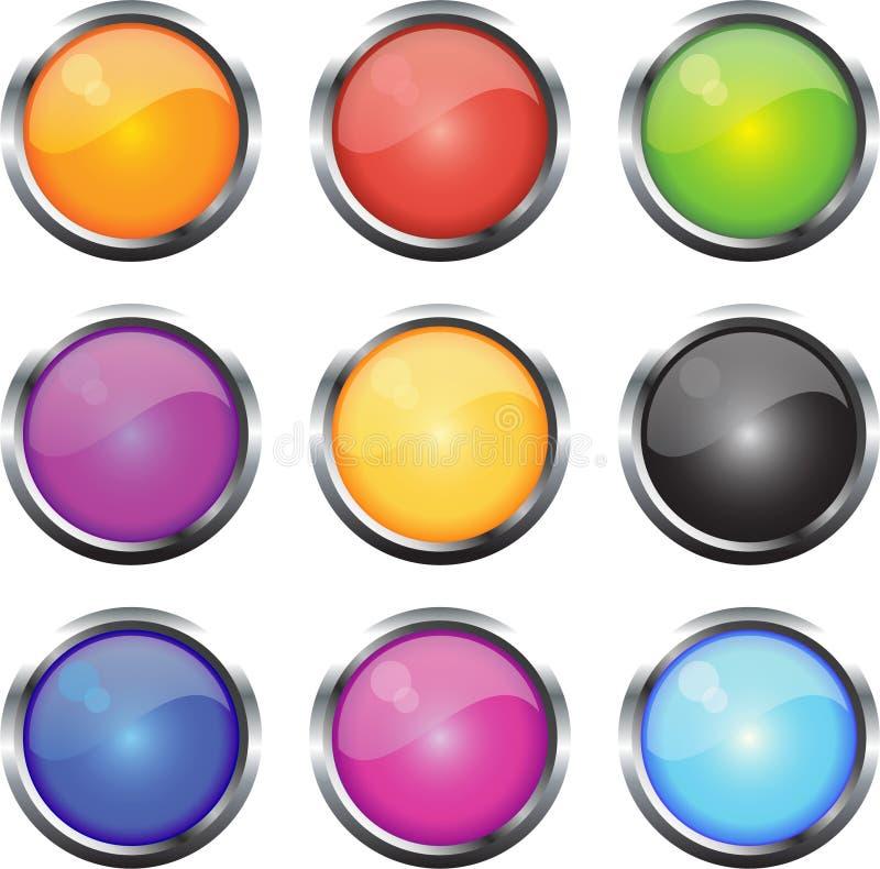 ikony glansowana sieć ilustracji