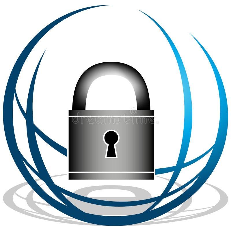 ikony globalna ochrona ilustracja wektor