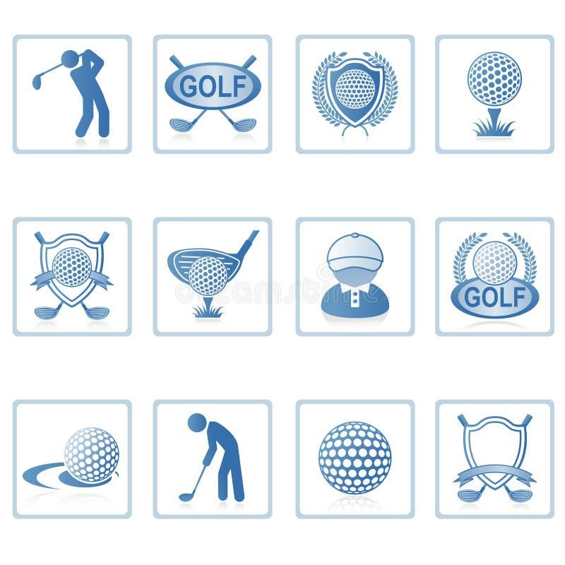 ikony golfowa sieć ii ilustracji