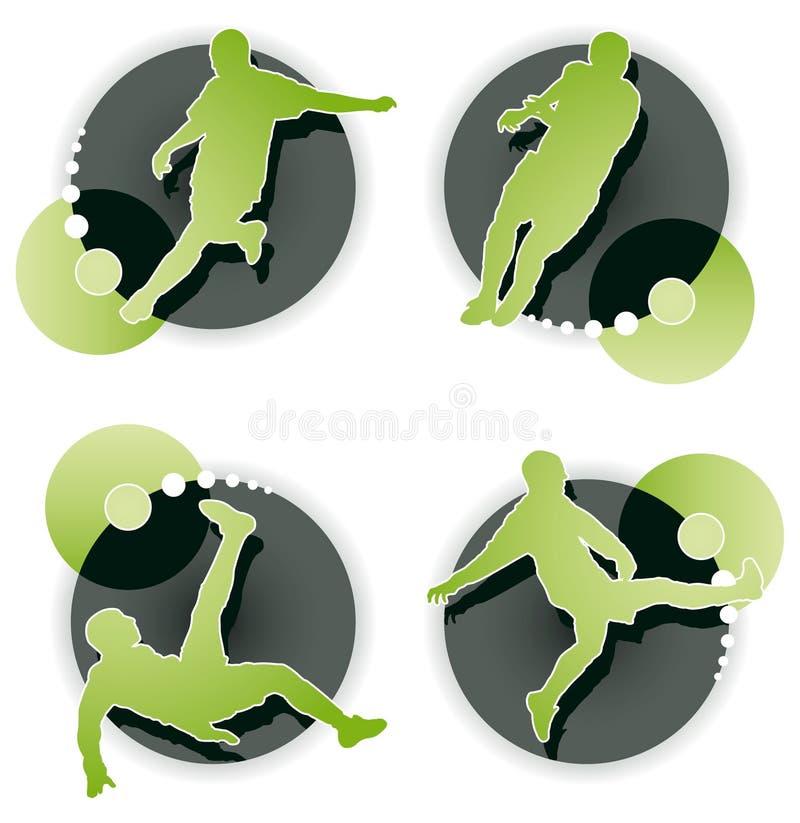 ikony gracza ustalona piłka nożna ilustracji