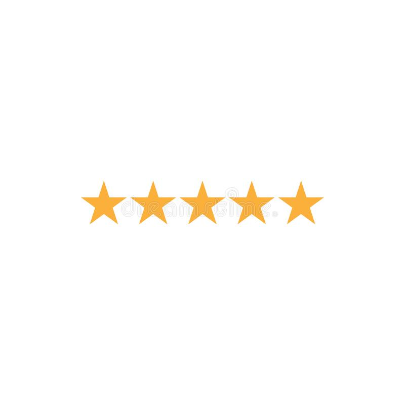 5 ikony graficznego projekta szablonu wektoru gwiazdowa ratingowa ilustracja ilustracji