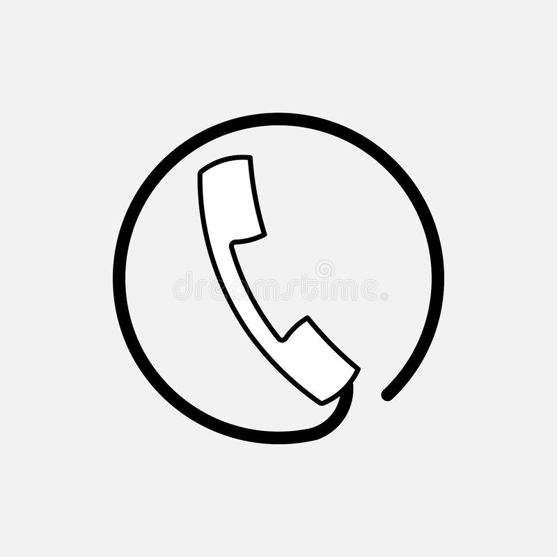 Ikony handset poparcie, komunikacja ilustracji