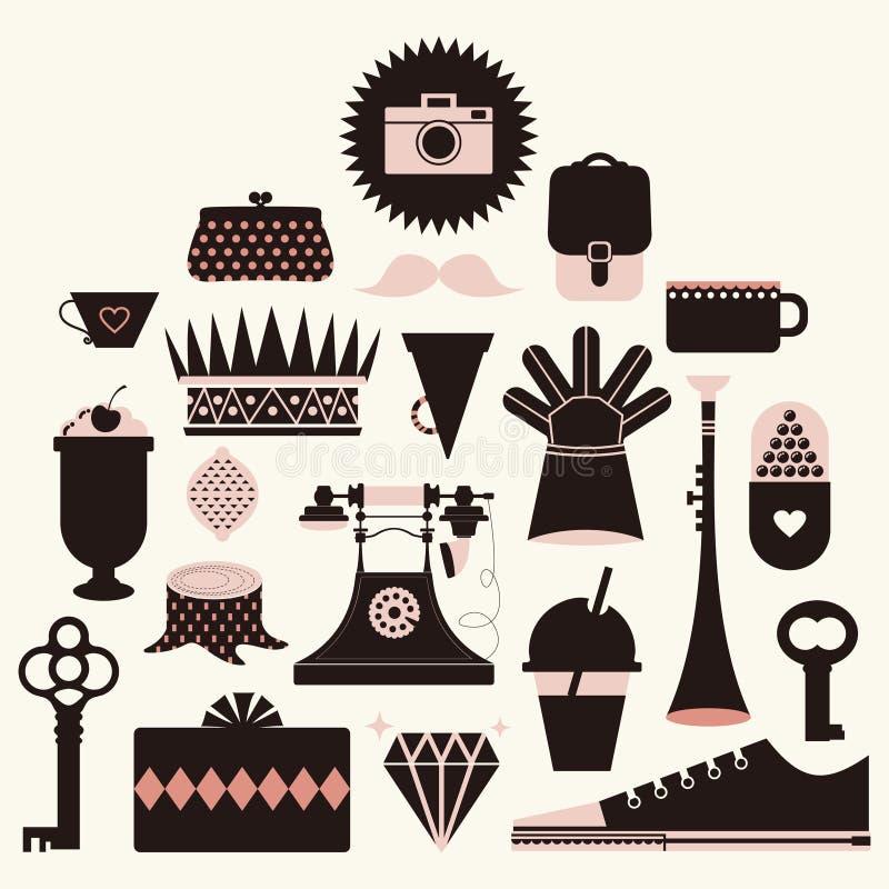 ikony ilustraci wektor royalty ilustracja