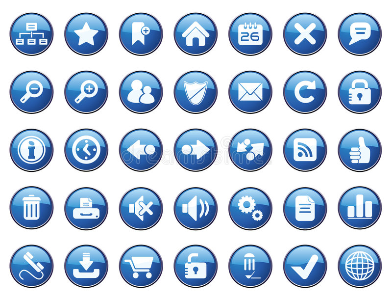 ikony internetów set