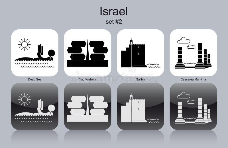 Ikony Izrael royalty ilustracja