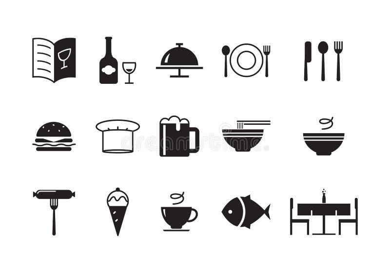 Ikony jedzenie, wektor ilustracji