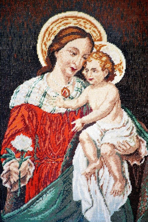 ikony Jesus Mary dziewica obrazy stock