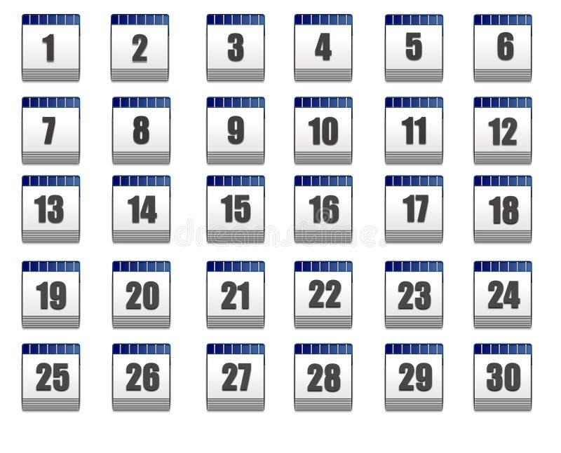 ikony kalendarzowa sieć ilustracja wektor