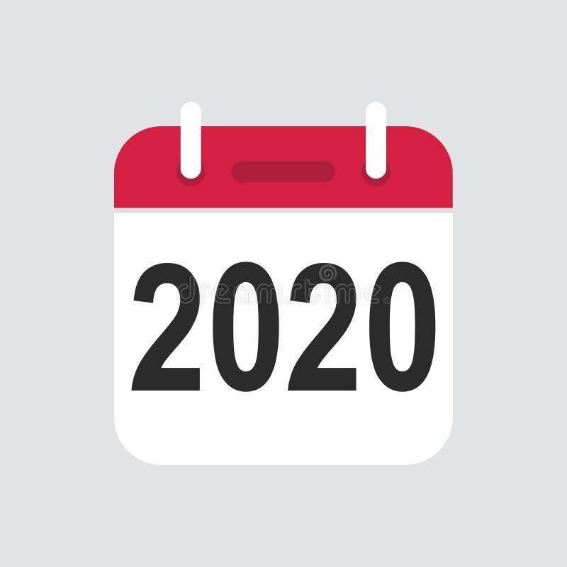 2020 ikony Kalendarzowy wektor ilustracja wektor