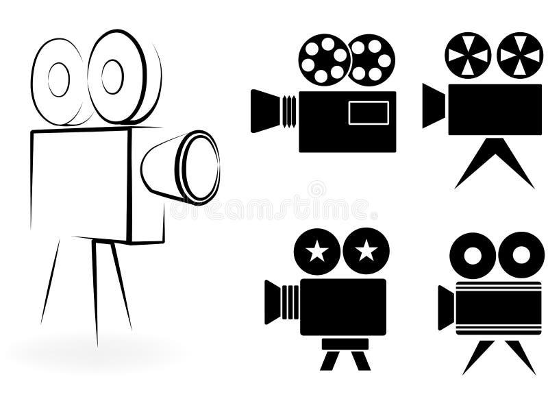 Ikony kamera wideo royalty ilustracja