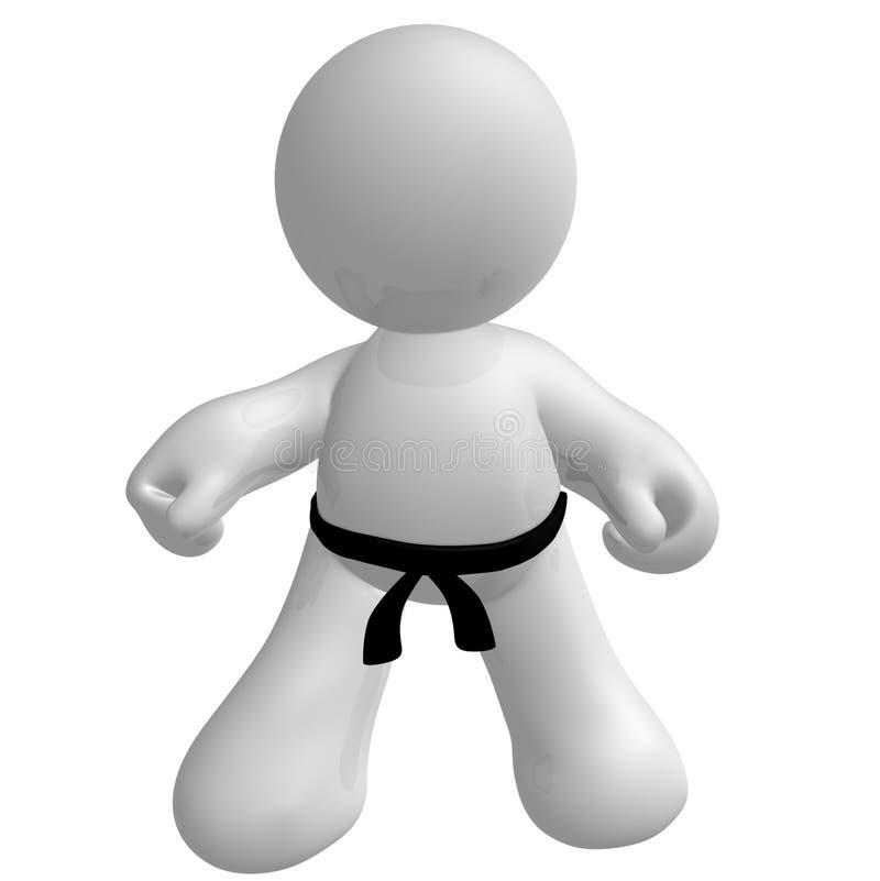 ikony karate dzieciaka kungfu poza royalty ilustracja