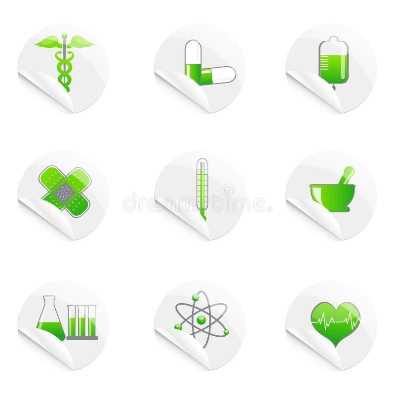 ikony kleisty medyczny royalty ilustracja